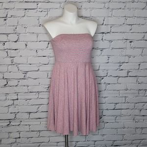 Neon Pink Strapless Dress
